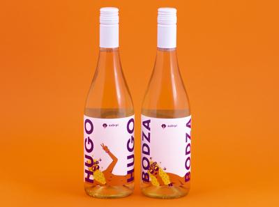 szörpi label starring Hugo & Bodza