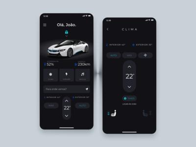 Car Control UI Concept