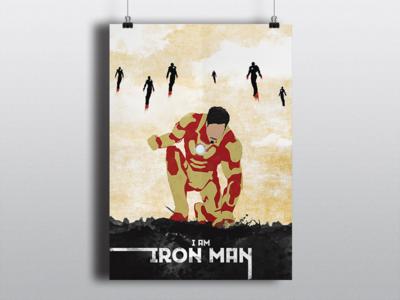 Iron Man minimalist comics marvel hero tonystark ironman