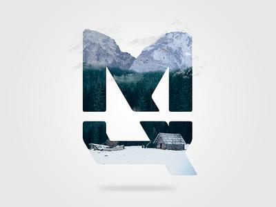 Logo Composition cabin snow forest mountain nature manipulation photoshop composition brand logo designer mateusquandt