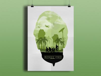 Rogue One: A Star Wars Story galaxy minimalist orsonkrennic jyn erso k2so darthvader deathstar jedi rogueone starwars