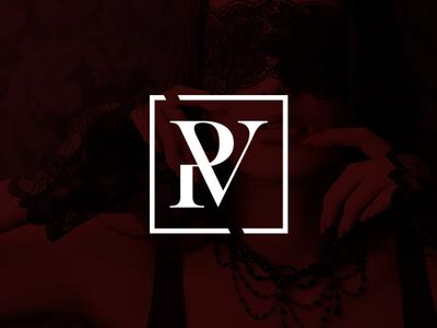 R + V logotype branding v r logo brand shop. monogram sex velvet red redvelvet