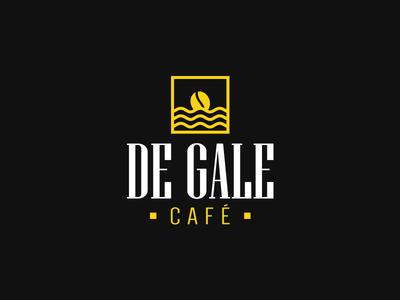 De Gale - Café logotype window minimalism mark sunset coffee branding brand logo degalecafe