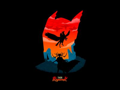 Attack Of The Valkyries marvel nerd movie poster illustration minimalist hela valkyries ragnarok thor