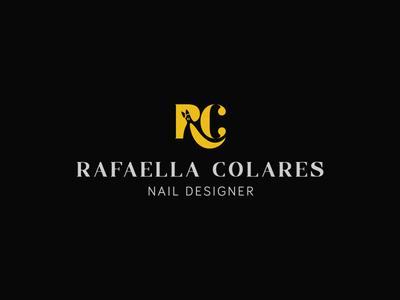 R + C beauty c r rc designer nail branding logotype logo brand