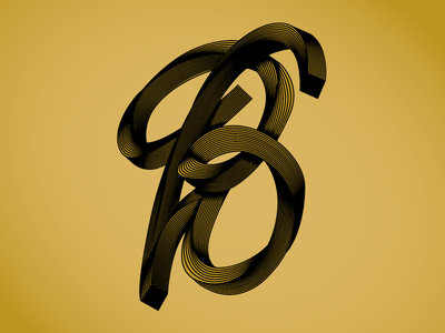 Personal Project B 1/10 gold black logo typography illustrator graphicdesign design letters lettering vector