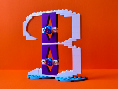 Personal Project B 4/10 lettering letters lego design