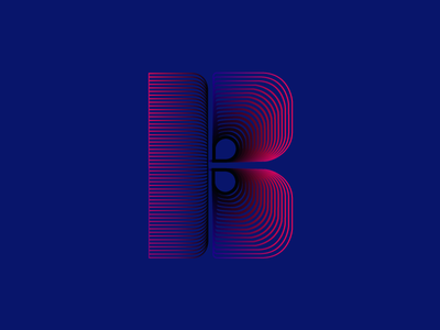 Personal Project B 8/10 illustrator design branding letters lettering graphicdesign vector