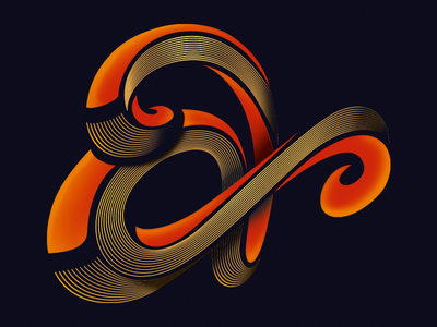 Personal Project - Lettering A logo letters illustration illustrator typography lettering graphicdesign design vector