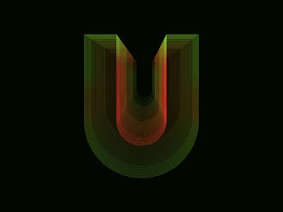 Personal Project Lettering U logo design branding illustration typography illustrator lettering letters graphicdesign vector