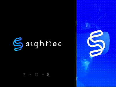 Sighttec - logo branding branding virtual reality icon virtual future vr identity logotype design graphicdesign vector