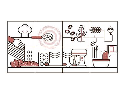 Icons design geometric design history food illustration design icon branding illustrator illustration graphicdesign vector