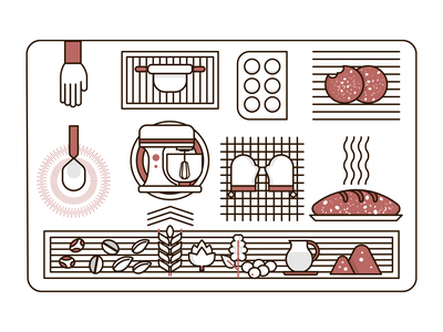 Icons design cookies food illustration geometric design icon design illustrator design identity icon illustration graphicdesign vector