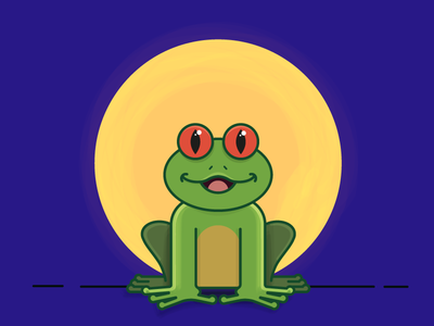 Frog illustration character