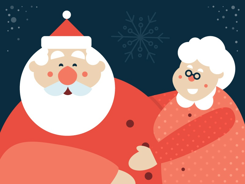 Santa Clauze By Michael Mazourek Dribbble Dribbble