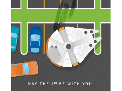 May the 4th be with you. michael mazourek mike mazoo lemonly animation parking lot millennium falcon may the fourth may 4th star wars