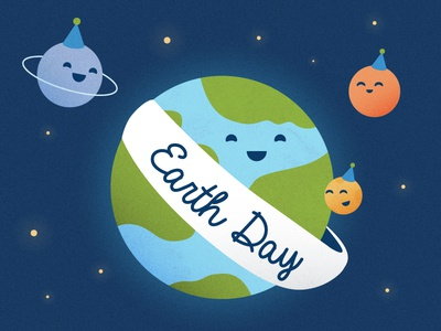 Every day is Earth Day michael mazourek lemonly mike mazoo mazoo solar system planets earth cute earth day