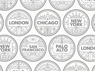 City Badges Pattern