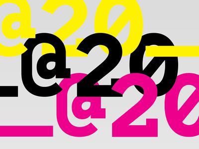 @20 Branding identity typography design branding