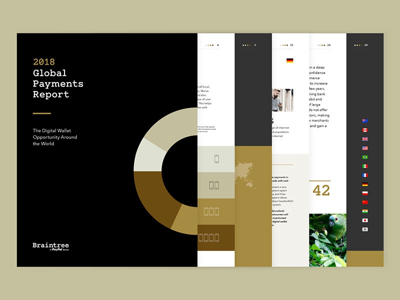 2018 Global Payments Report print design page layout typography