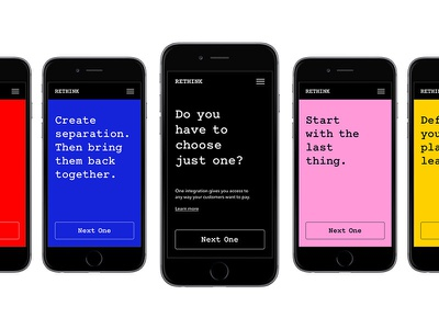 Rethink Strategies app design design typography