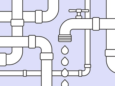 More Than Plumbing vector illustration