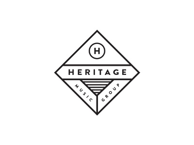 Heritage Logo concept music label heritage