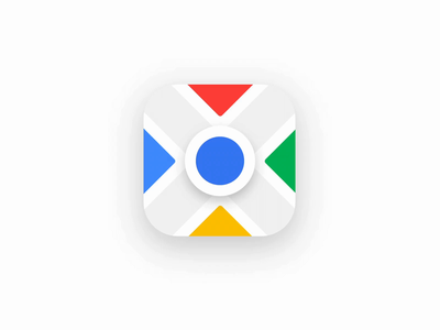 Google Maps flag motion google maps minimal animation