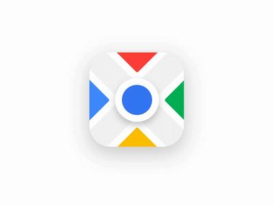 Google Maps flag motion google maps minimal animation