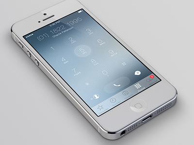 iOS7 Keypad Redesign apple dialer simple redesign flat ios7 ios ui keypad iphone clean minimal