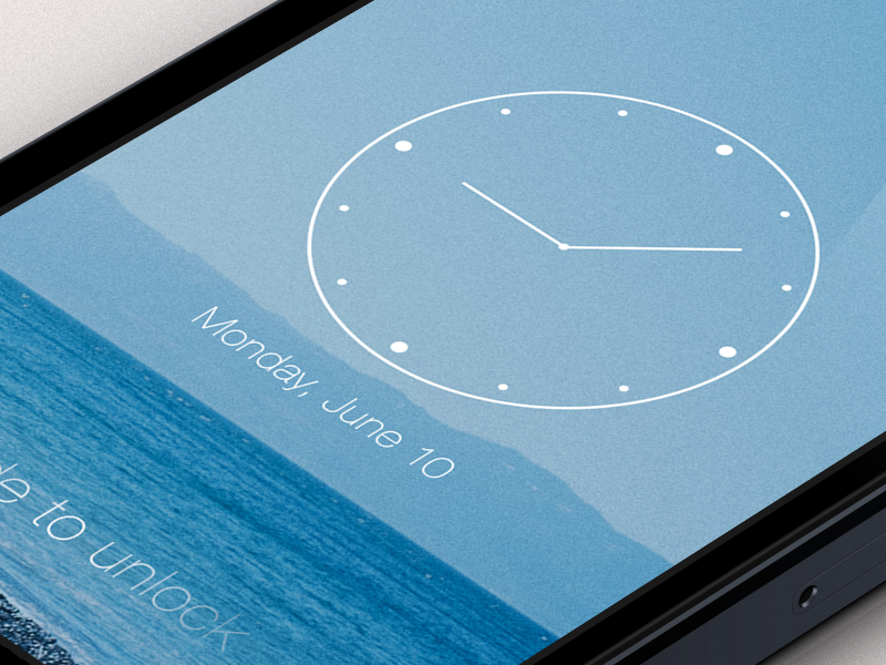 iOS7 Lock Screen by Charles Patterson on Dribbble