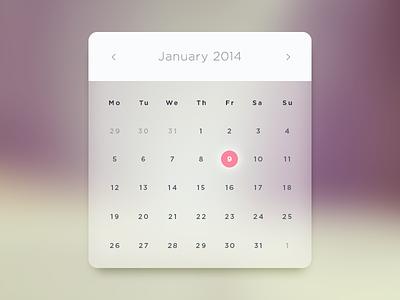 Glass Calendar free calendar glass clean minimal psd rebound