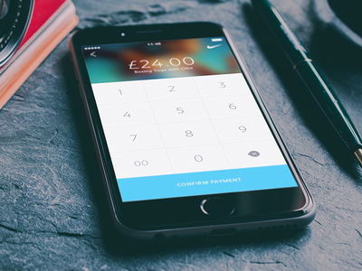 Payment ui iphone6 payment keypad confirm minimal ux simple clean fitness app