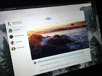 Skype futura ux white space white minimal redesign skype ui