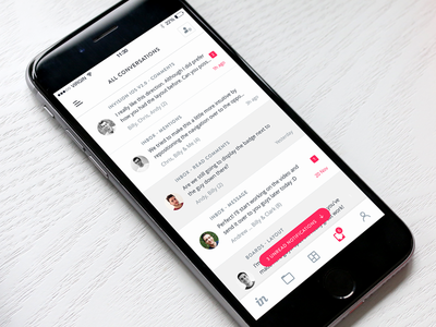 InVision Inbox for iOS messages conversation ios iphone invision inbox comments chat