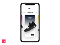 Nike app — natural motion effect