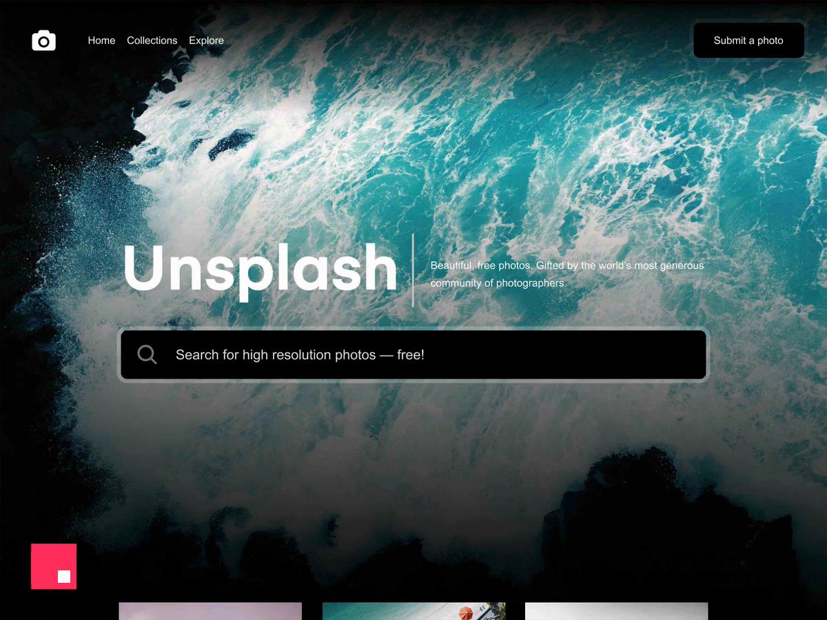 Unsplash website v5