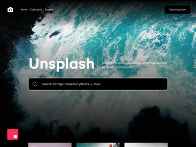 InVision Studio — Unsplash concept mason grid parallax scroll invisionstudio unsplash minimal animation ux ui