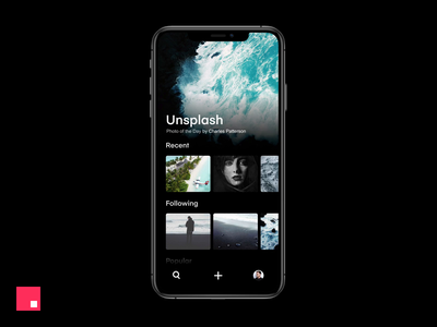 InVision Studio — Unsplash iOS scroll cards studio ios minimal animation ux ui