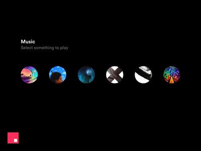 InVision Studio — Music Player motion invision design clean studio minimal animation ux ui