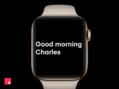 InVision Studio — Apple Watch typography motion invision design clean studio minimal animation ux ui apple watch