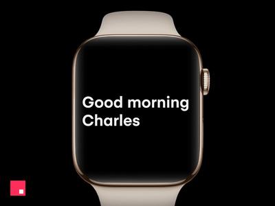 InVision Studio —Apple Watch typography motion invision design clean studio minimal animation ux ui apple watch