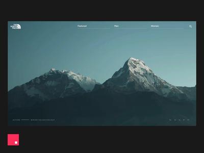 InVision Studio — The North Face animation ux ui
