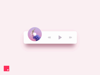 InVision Studio — Music Player ios minimal animation ux ui