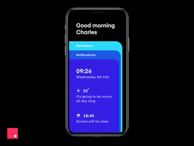 Good Morning! cards invision design clean studio ios minimal animation ux ui