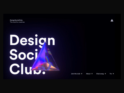 Design Social Club animation ux ui
