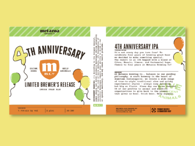 Anniversary IPA Limited Release Can Art