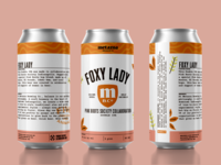 Foxy Lady Can Art Mockup beer package design can art brewery branding
