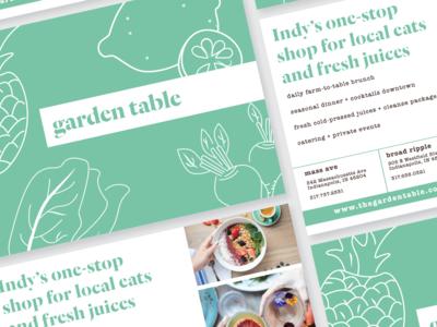 Garden Table Overview Handout
