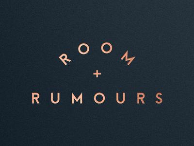 Room + Rumours Logo store bar restaurant logotype logo branding